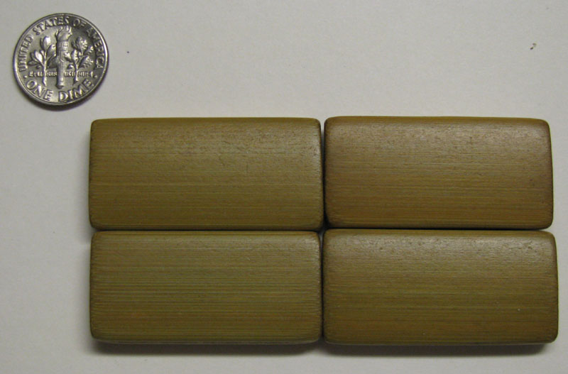 Bamboo Tiles, Rectangular, Sage, double drilled, edged