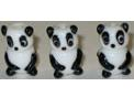 Handmade Glass Panda Bead
