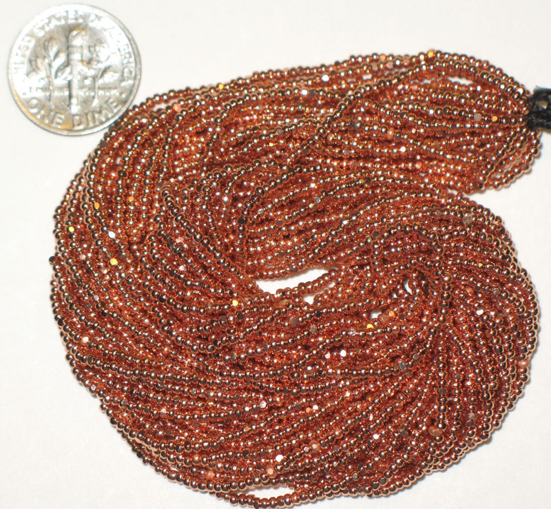 New Copper Plated 12/0 Charlottes, Strand