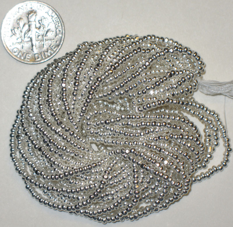 New Sterling Silver Plated 10/0 Charlottes, Strand