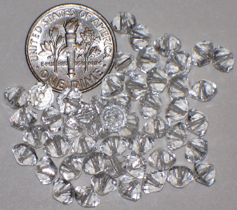 Vintage Clear Glass / Crystal 6mm Beads Western Germany