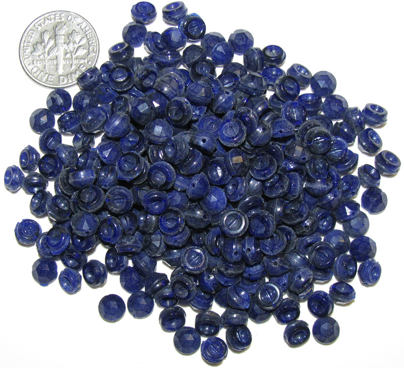 Vintage Blue Domed Nailheads, 5.5mm - 5.8mm, Round