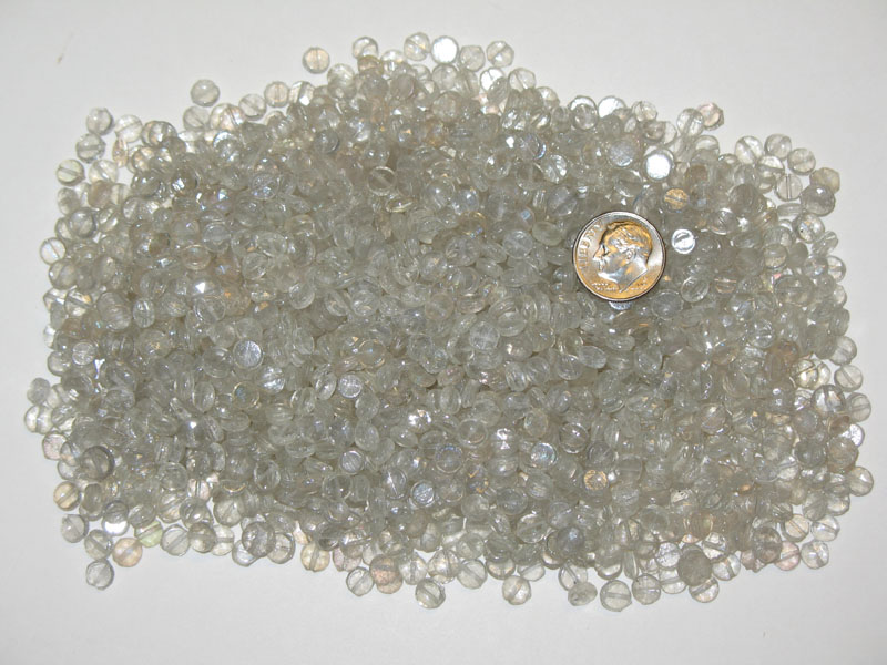 Vintage Clear AB Mix Nailheads Beads 5.5mm, Round