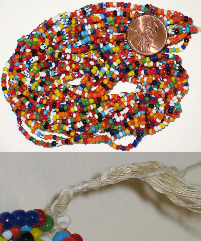 Vintage Italian Rainbow Mix 9/0 seed beads, hank