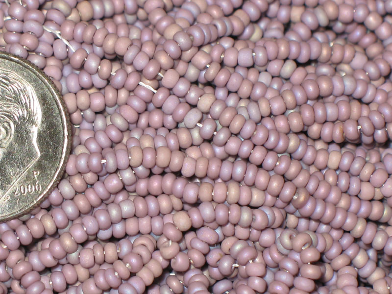 New Lavender Matte Mix 10/0 seed beads, hank