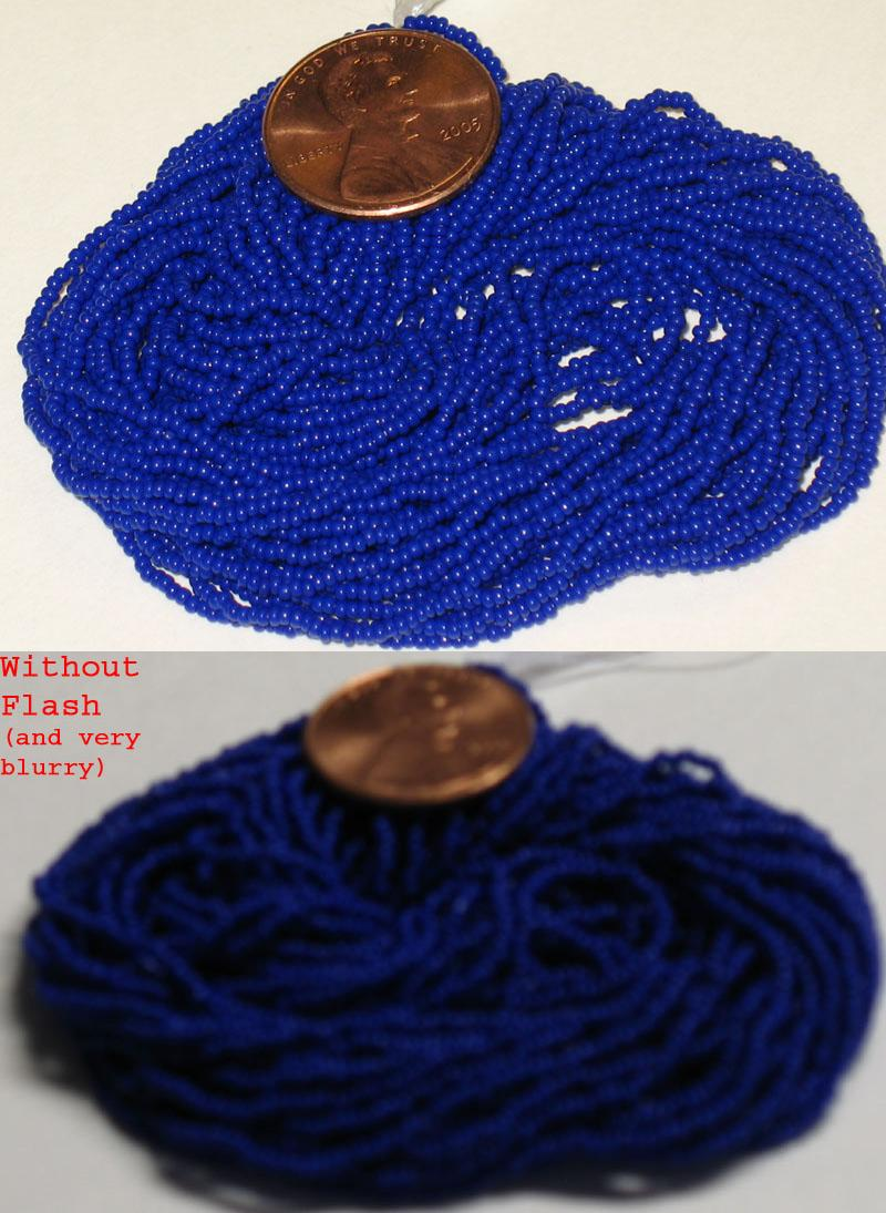 New Royal Blue 15/0 seed beads, hank